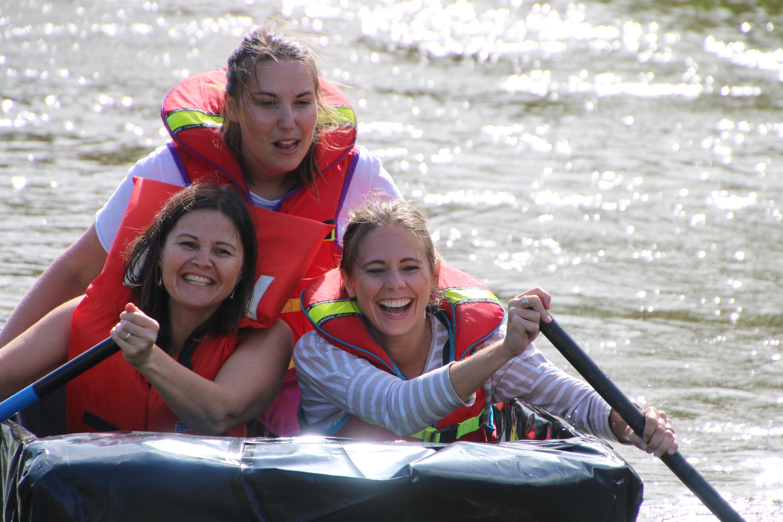 3 girls in a boat